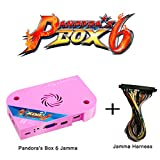 Wisamic Pandora's Box 6 Jamma Board PCB Jamma Harness, Add Additional Games, Support 3D Games Full HD, Games Classification, Upgraded CPU, Support PS3 PC TV 2 Players, No Games Included