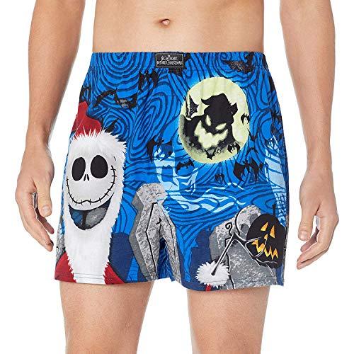 - Disney Men's Nightmare Before Christmas Boxers, Blue, L