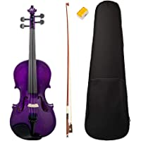 Homyl Acoustic Violin Full 4/4 Size with Carrying Case and Bow for for Beginners Students Music Lover, 23.2 x 8.3 x 2…