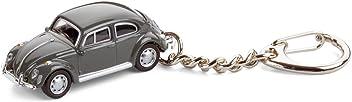 corpus delicti Schlüsselanhänger mit Modellauto für alle Auto- und Oldtimerfans – Kultauto VW Käfer grau