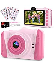 $34 » Coolwill Kids Camera for 3-12 Year Old Girls & Boys, 12 MP 1080P FHD Video Camera for Kids with 8X Digital Zoom & 3.5 inch Large Screen Popular Children's Birthday Gifts,with 32G TF Card
