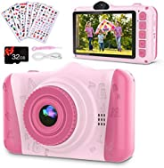 Coolwill Kids Camera for 3-12 Year Old Girls & Boys, 12 MP 1080P FHD Video Camera for Kids with 8X Digital