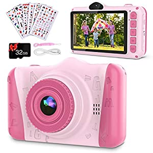 Flashandfocus.com 517CB22ExBL._SS300_ Coolwill Kids Camera for 3-12 Year Old Girls & Boys, 12 MP 1080P FHD Video Camera for Kids with 8X Digital Zoom & 3.5…