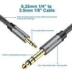 Cavo-Audio-35-a-63-2M-POSUGEAR-Nylon-intrecciato-Jack-35mm-Maschio-a-635mm-Maschio-TRS-Stereo-Aux-per-Collegare-Smartphone-Tablet-PC-con-Altoparlante-Amplificatore-Mixer-Audio-Chitarra-etc