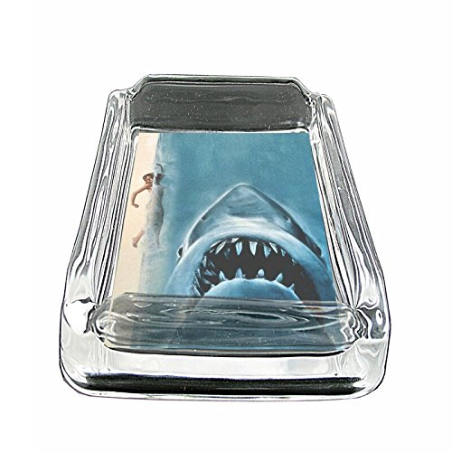 Coin Glass Ashtray - Shark Attack Em1 Glass Ashtray Smoking/Coin Holder 4