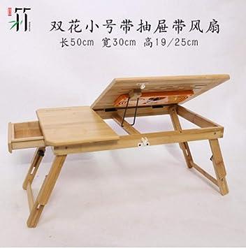 Computadora Plegable Escritorio computadora portátil Mesa de bambú ...