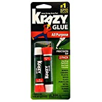 Krazy Glue KG517 Súper pegamento de propósito, punta de precisión, 2 gramos, 2 unidades, 1
