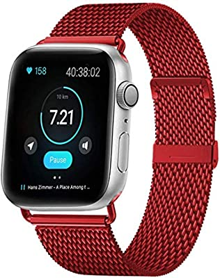 HILIMNY Compatible Correa para Apple Watch 38mm 40mm 42mm 44mm ...