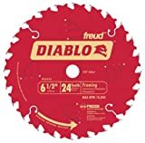 framing blades 10pack - Freud D0624X Diablo 6-1/2-inch 24 Tooth ATB Framing TiCO Saw Blades, 10-Pack