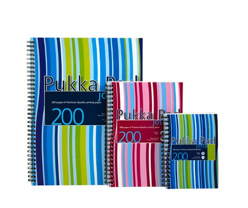 Pukka Pads A5 Case Bound Project Book - Pink/Blue (Pack of 3)