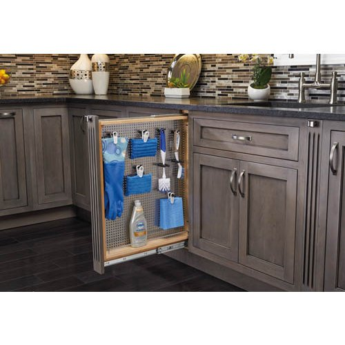 Rev-A-Shelf 6'' Filler Stainless Steel Pullout SC, Natural by Rev-A-Shelf