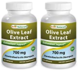 Best Naturals Olive Leaf Extract 700mg 90 Capsules (Pack of 2) For Sale