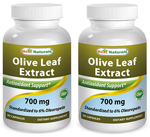 (2 Pack - Best Naturals Olive Leaf Extract 700mg 90 Capsules (Total 180 Capsules))