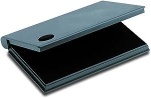 "2000 PLUS Stamp Pad, Felt, Size No.2, 6-1/4"" x 3-1/2"", Black Ink (090407)"