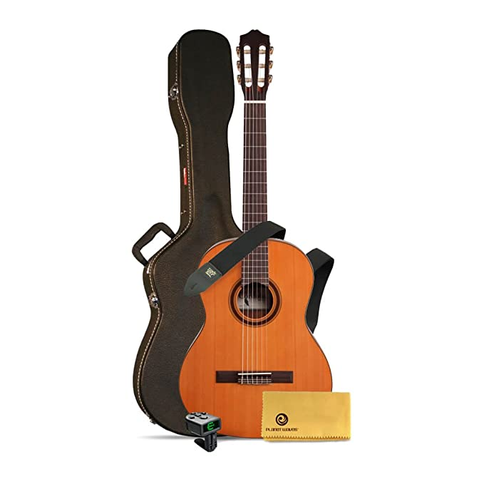 Amazon.com: Cordoba C3M Classical Guitar bundle with case, tuner, cloth and strap: Musical Instruments