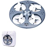 Dwi Dowellin Mini Drone Quadcopter 4CH 6-Axis Gyros Remote Control Toys Micro Nano Durable UFO RC Helicopter With LED Light For Beginners RTF 374 Gray