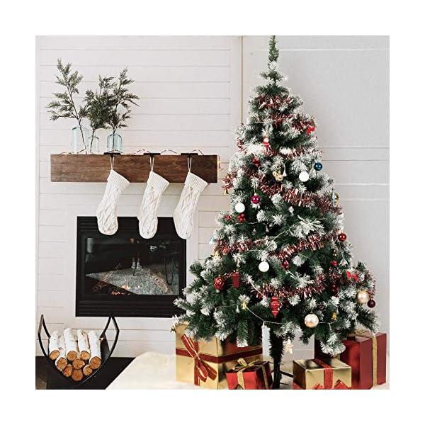 TopVita Albero di Natale Bianco Verde, Albero di Natale Artificiale in PVC Ignifugodi in Diverse Misure (Verde e Bianco, 2,4 Metri) 7 spesavip