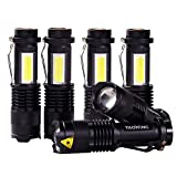 Whaply Mini Small LED Taclight Lantern Flashlight ,Por Camping Lantern for Home Emergency Use, Hurricane, Outage or Gift-Giving (6 Pack)