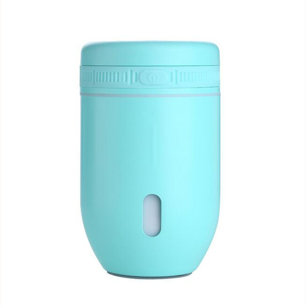 Humidifiers Mini Humidifier Ultrasonic Air Humidifier LED Lights Office, Bedroom, Car, Spa(1277cm) air purifier (Color : Light green)