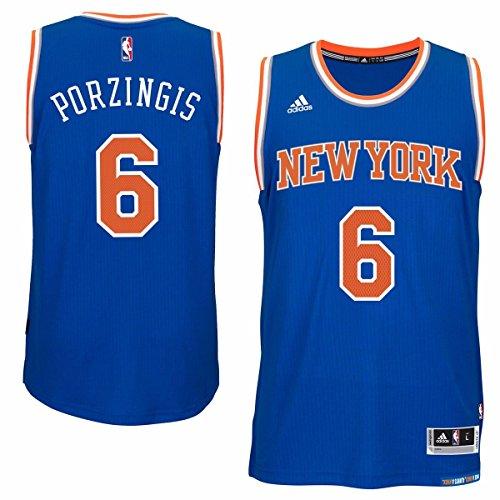 New York Knicks Kristaps Porzingis Youth Swingman Jersey - Blue (Yth L)
