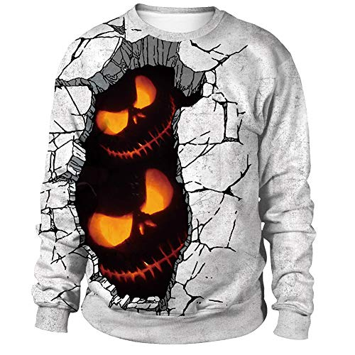 Halloween Jumper Men's Long Sleeve Graphic Sweatshirt 3D