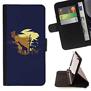 DEVIL CASE - FOR Samsung Galaxy A3 - Giraffe Nature Industry Technology City Art - Style PU Leather Case Wallet Flip Stand Flap Closure Cover