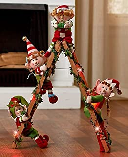 holiday elf collection elf ladder