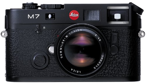 0.72 Viewfinder (Leica M7 Rangefinder 35mm Camera w/ .58x Viewfinder, Black (Model 10503))