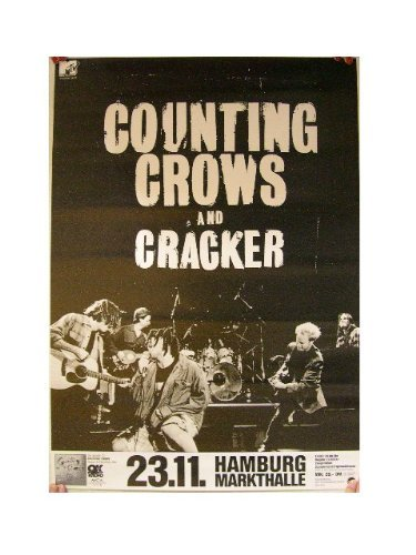 Counting Crows Poster Cracker Band concert Hamburg