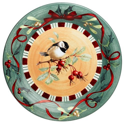Lenox Winter Greetings Everyday Chickadee Dinner Plate