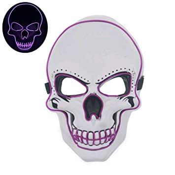 SUNFFFW Fiesta De Halloween Máscara De Disfraz Led Máscara ...