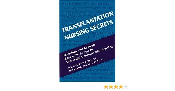 Transplantation Nursing Secrets, 1e: 9781560535195: Medicine ...