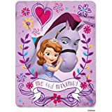 Disney Sofia the First, Me and Minimus Printed Fleece Throw by The Northwest Company, 45 by 60""