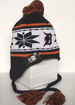 33fab3c8e0d Amazon.com   New Era Detroit Tigers Navy Blue Striped Snowflake ...