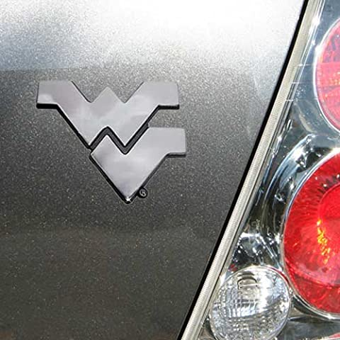 West Virginia Mountaineers Chrome Auto Emblem - University Chrome Car Emblem