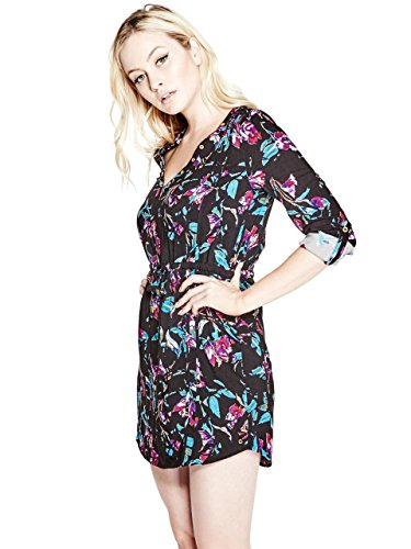 G-by-GUESS-Womens-Bellissa-V-Neck-Dress