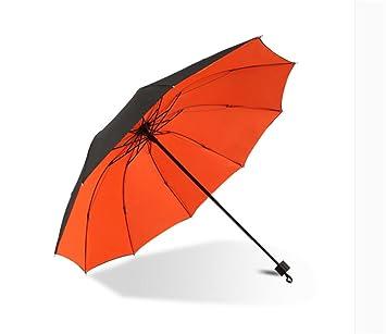 HYHAN hombres y mujeres paraguas para agrandar paraguas doble doble capa resistente al agua fuerte sombra