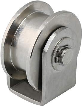 BQLZR Rueda de polea fija de acero inoxidable 304, 48 mm de ...