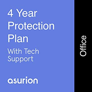ASURION 4 Year Office Equipment Protection Plan with Tech Support $100-124.99