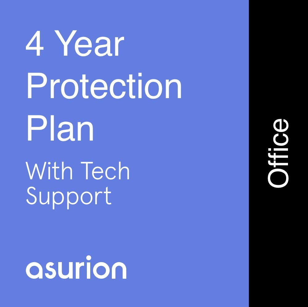 ASURION 4 Year Office Equipment Protection Plan with Tech Support $125-149.99