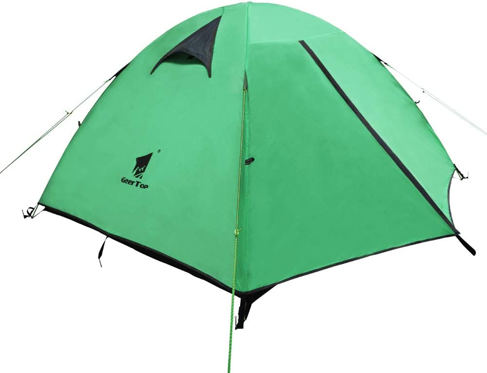 GEERTOP Tienda iglú de Campaña Impermeable Ligera 3 Personas 3 Estaciones - 180 x 210 x 120 cm (2,5kg) - UV Resistente para Acampar Excursionismo y Turismo (Verde): Amazon.es: Deportes y aire libre