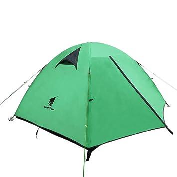 GEERTOP Tienda iglú de Campaña Impermeable Ligera 3 Personas 3 Estaciones - 180 x 210 x