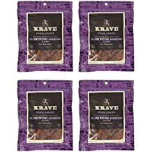 KRAVE Pork Jerky, Black Cherry Barbecue, Gluten Free, 3.25 Ounce (Pack of 4)