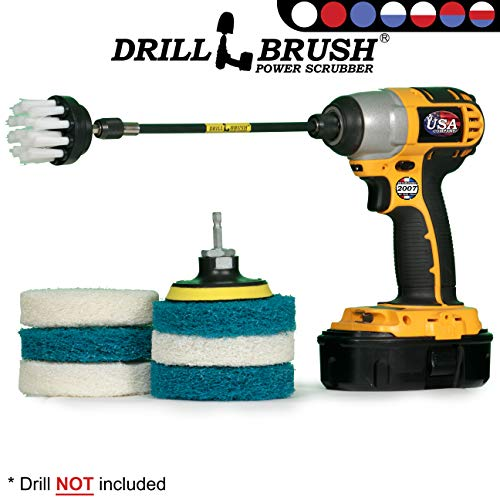 Cleaning Supplies – Drill Attachment – Drill Brush – Drill Power Scrubber Pads – Scrub Brush – Kitchen – Refrigerator…