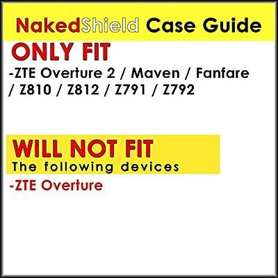 [NakedShield] Black/Black Heavy Duty Holster Armor Tough Case - F for ZTE Overture 2 [Z812] / Maven / Fanfare by NakedShield