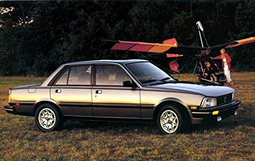 1986 Peugeot 505 Turbo ORIGINAL Factory Postcard