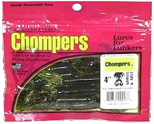 Table Rock Bait HG5D1O-10 Chompers Twin Tail Skirted Grubs, Green ()