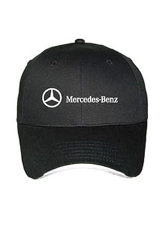 Genuine Mercedes Benz Structured Cotton Baseball Cap Hat - Black ... ca933abe1168