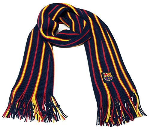 (Fc Barcelona Scarf Soccer Fashion Scarf Authentic Official Licensed)