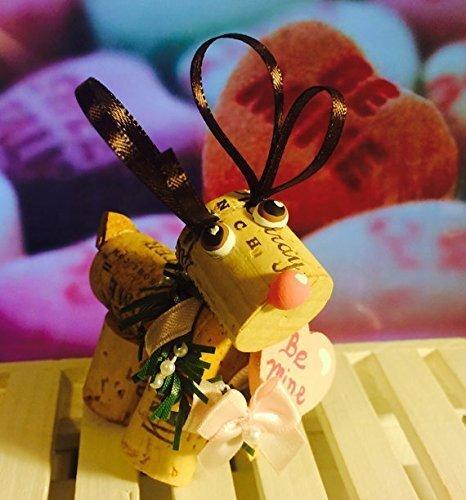 (Valentine Wine Cork Reindeer Shelf Sitter Heart Be Mine)